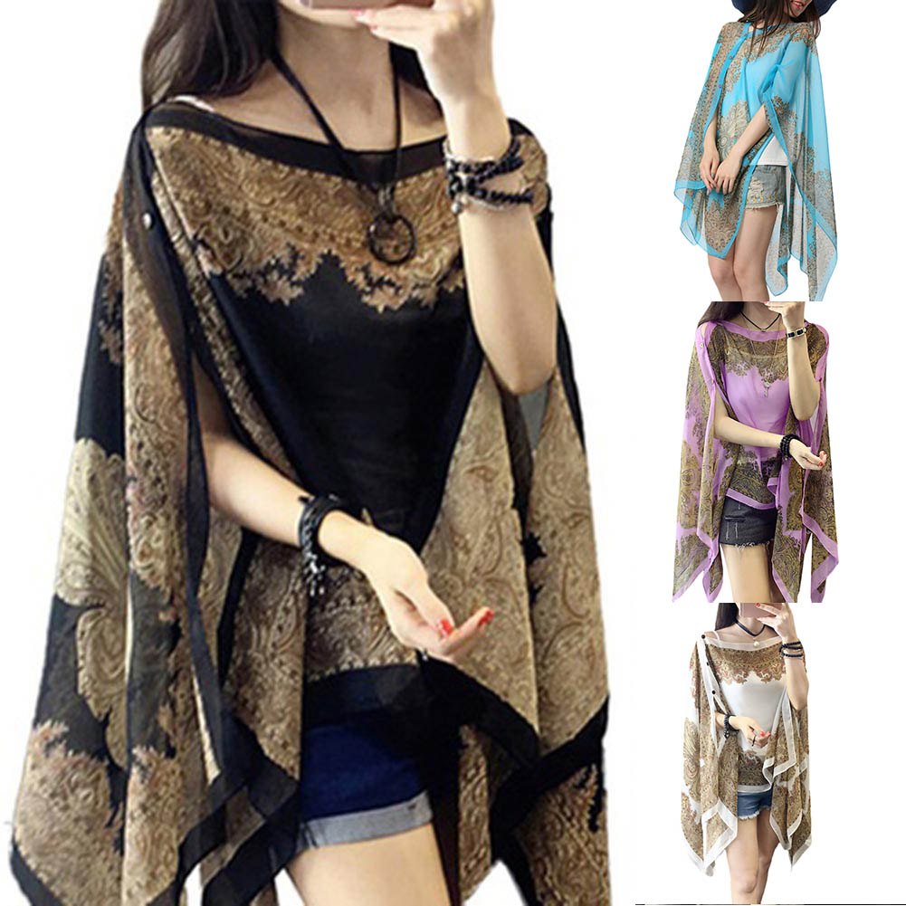 New Design Retro Summer Thin  Printed Loose Sun Protection Clothing Kimono Cardigan Sun Shirt Women Outerwear