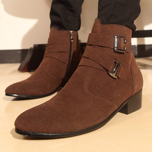 The Man Pointed Boots High Boots Boots Fashion Bangnan British Winter Boots With Velvet Martin Shoes