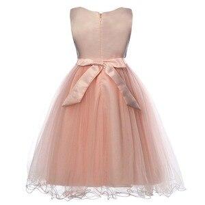 Image 2 - Cielarko Kız Elbise Kelebek Çocuk Çiçek Elbiseler Doğum Günü Tül Çocuk Düğün Parti Frocks Resmi Bebek Balo Kız için