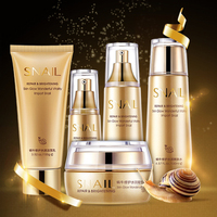 Bioaqua Gold Snail Essence Face Skin Care Set Moisturizing Whitening Facial Cream Toner Essence Milk Cleanser Korea Facial Set