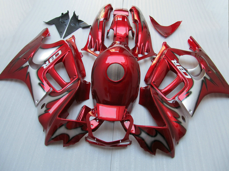 New hot moto parts Fairing kit for Honda CBR600 F3 97 98 wine red black fairings set CBR600 F3 1997 1998 FV26