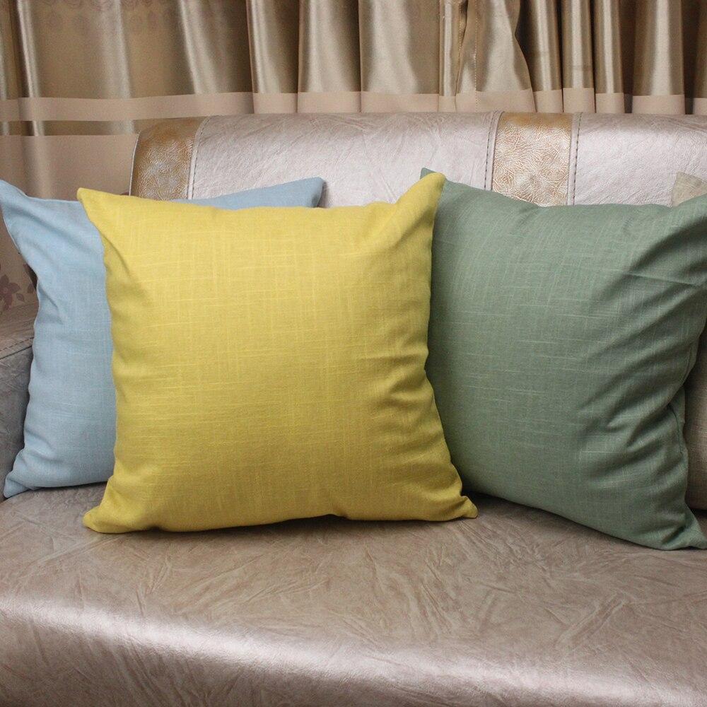 Moda Simple Cojín Sólido Natural de Lino de Algodón Sano Home - Textiles para el hogar