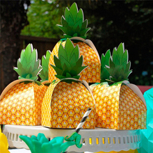 25Pcs Sunny Holiday Favors European Candy Box Paper Pineapple Gift Bag