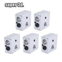 2 pcs Alüminyum sabit blok ısı blok Makerbot için 3D yazıcı ekstruder MK7/MK8.