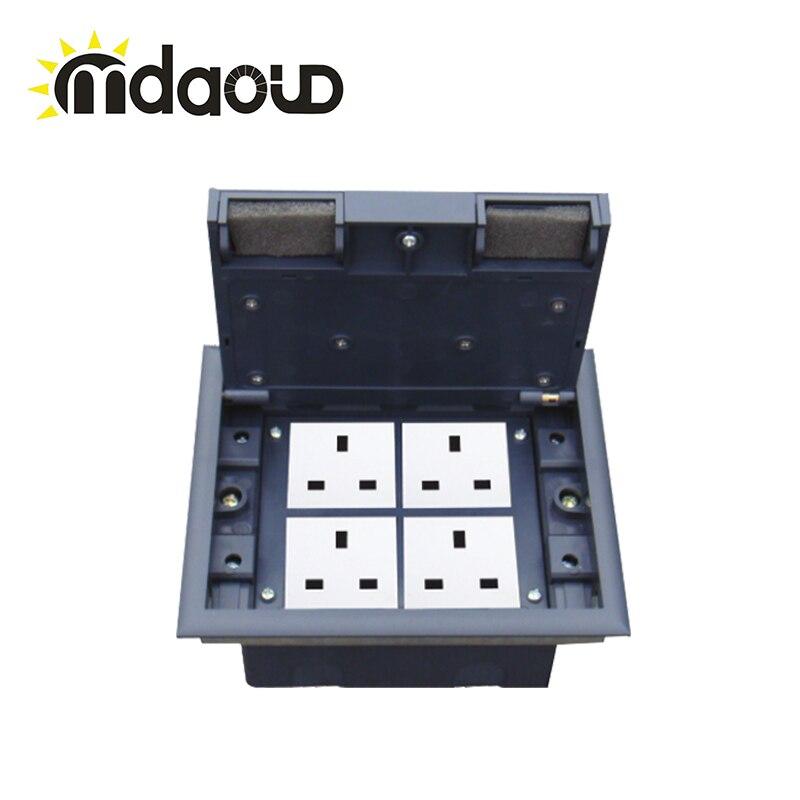 Ca 100 ~ 250 V alliage de laiton alu panneau en alliage allemand Standard Pop Up prise de sol avec câble net/avec prise électrique PC prise