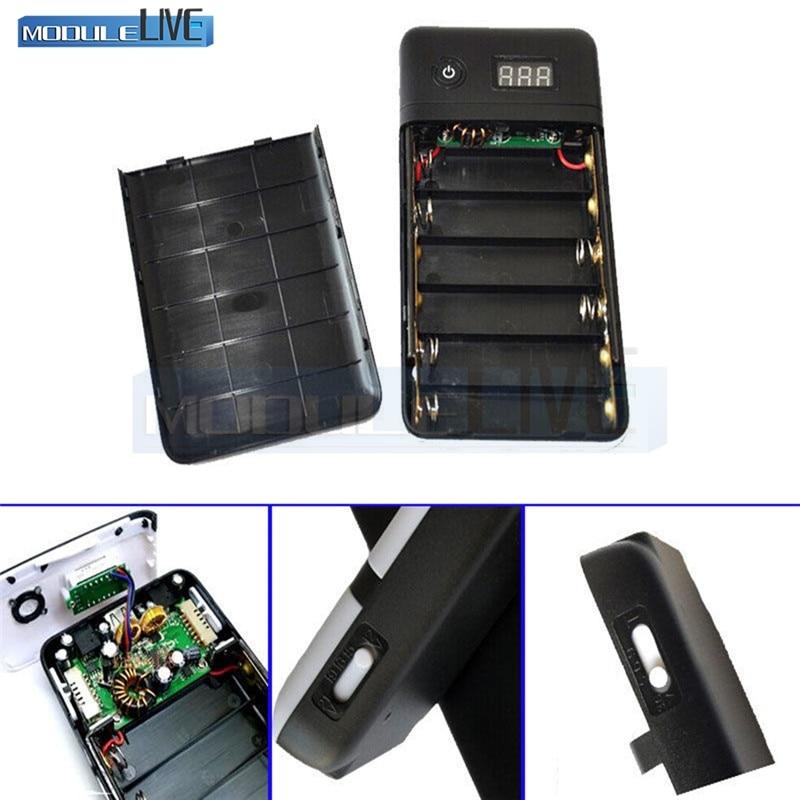 3.3A 5V 12v 19v 21V Black Mobile power bank Six 18650 Battery Charger For 19V Laptop 5V phone New
