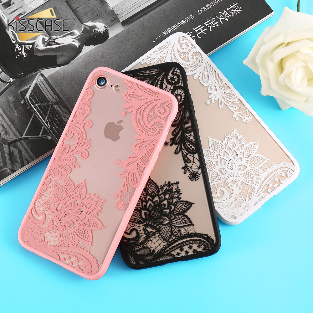 Lace Floral Iphone 8 Plus Iphone 8 Elegant Lace Flower Back Cover