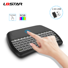 L8STAR D8-S 2.4G RGB Wireless keyboard with Touchpad Backlit