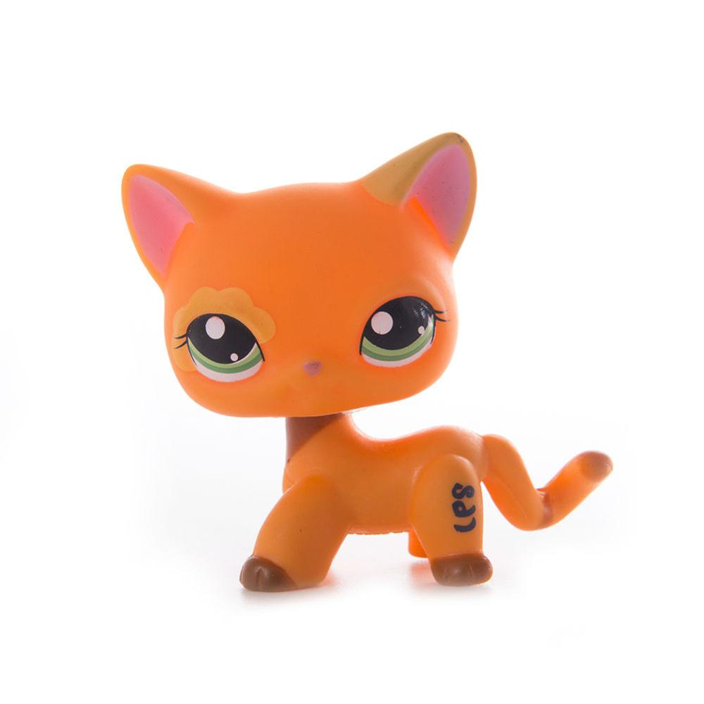 LPS Pet Shop Cute Short Hair Cat Toys PVC Dolls Action Stand Figure Toys Cosplay Dolls Model Toy Gifts For Kids in Action Toy Figures from Toys Hobbies