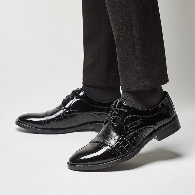 Men Dress Shoes Men Formal Shoes Classic Lace Up Leather Luxury