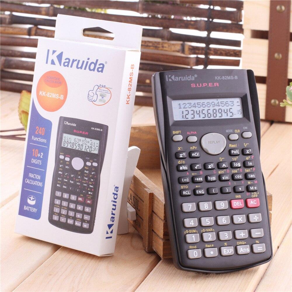 82ms Portable 2 Baris Display Lcd Digital Kalkulator Ilmiah Deli 240f Scientific Calculator 10 Digits E1710 Sains Portabel Siswa Sekolah 240 Fungsi 12 Digit Tampilan Untuk Pengajaran Matematika Di