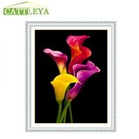 5d Diy Diamond Embroidery Flower Painting Calla Flower Crystal Mosaic Diamond Cross Stitch Kits Resin Craft