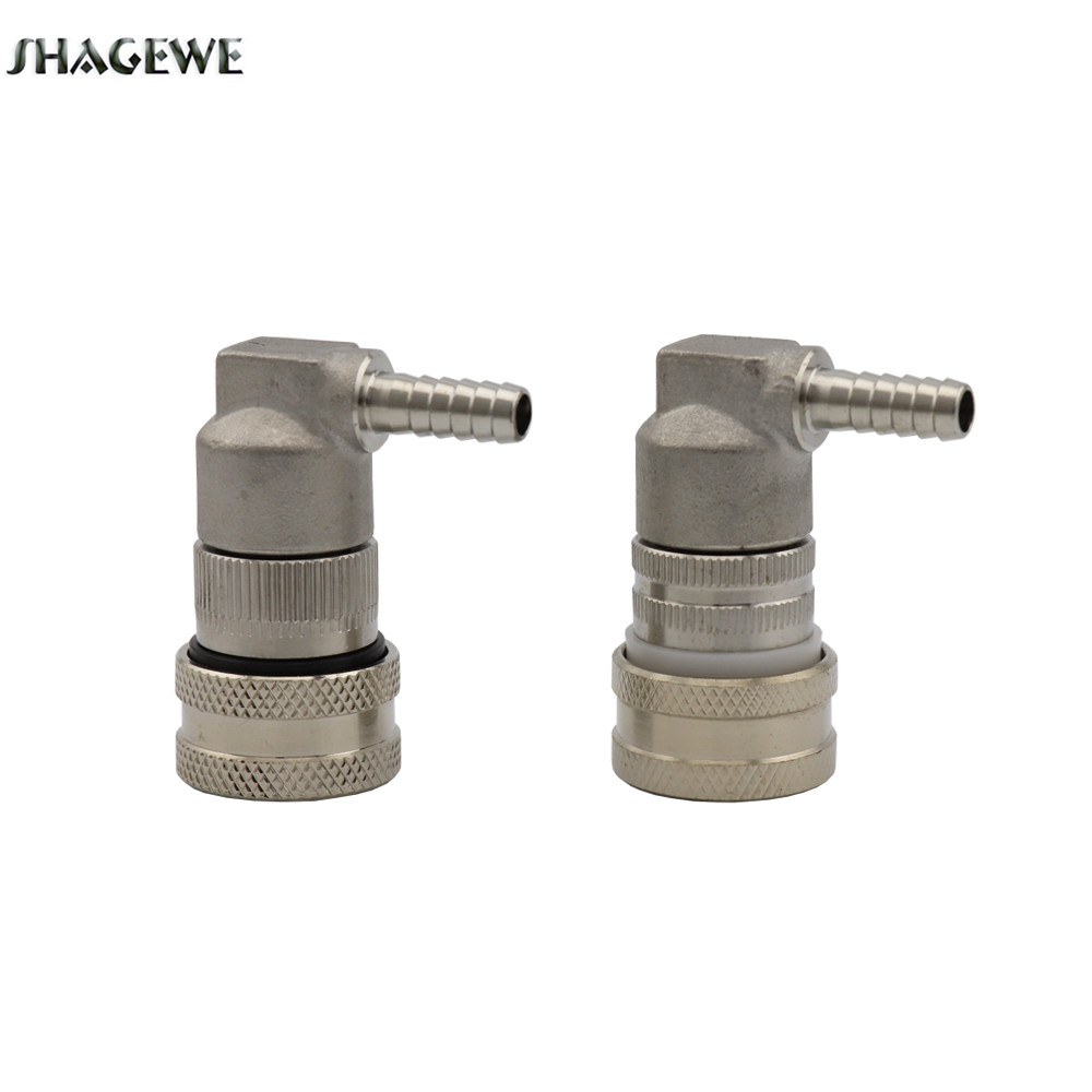 2Pcs Cornelius corny keg Stainless Steel Dispense Ball Lock Liquid Gas Disconnect with 1 4inch Barb For Homebrew Beer Keg in Other Bar Accessories from Home Garden