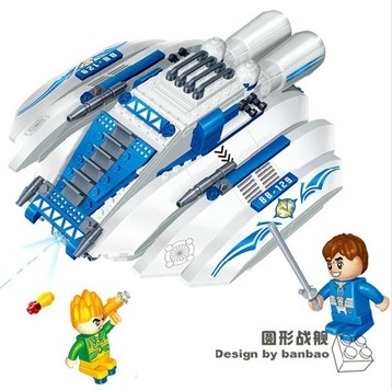 Banbao 6408 Space Series Circular Battleship Shuttle 252 pcs Plastic Building Block Sets Educational DIY Bricks Toys prorab 6408 нк