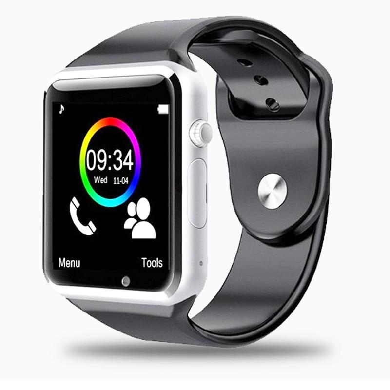 imágenes para A1 reloj bluetooth smart watch deporte podómetro con sim cámara smartwatch para android smartphone de rusia envío gratis