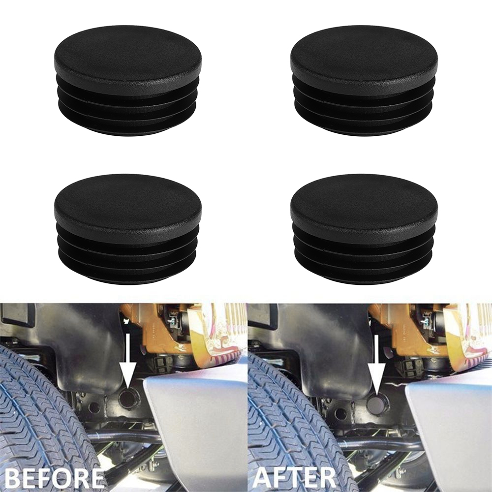 Tube Frame Hole Cover Plugs Rear Wheel Well For 1999 2018 Chevy Silverado Wiring Harness 4pcs Black Plug Accessory Dress