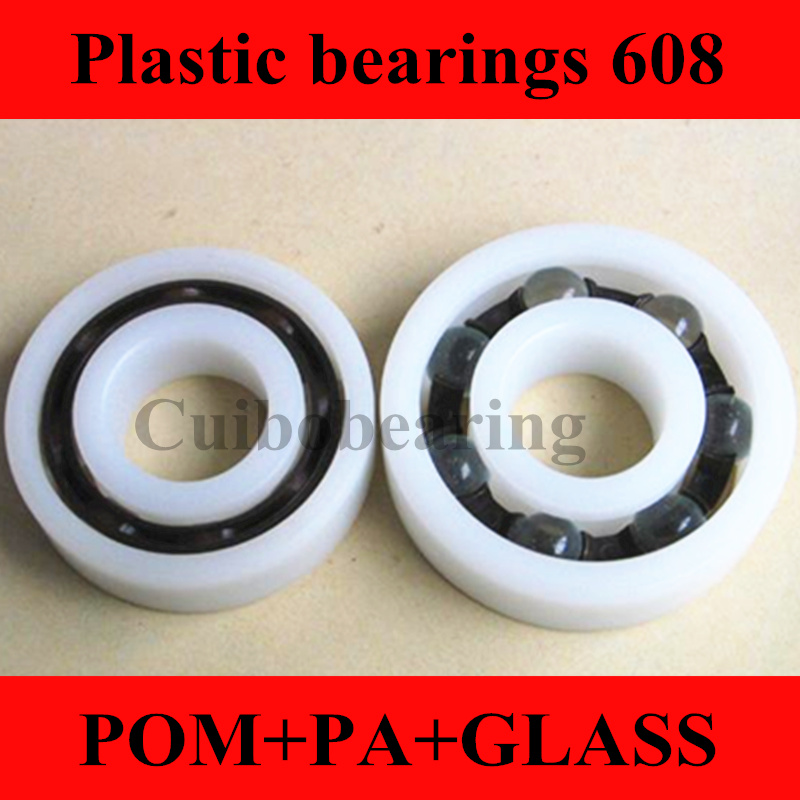 10pcs  POM Plastic bearings 608 with Glass balls 8x22x7 mm nylon bearing 50pcs pom plastic bearings 608 with glass balls 8x22x7 mm nylon bearing