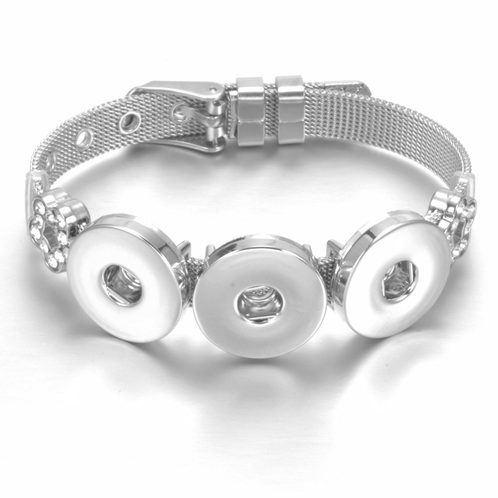 SZ0452i New Arrivals DIY Stainless Steel Charms Bracelet & Bangle Snaps Jewelry Fit 18mm Snap Button
