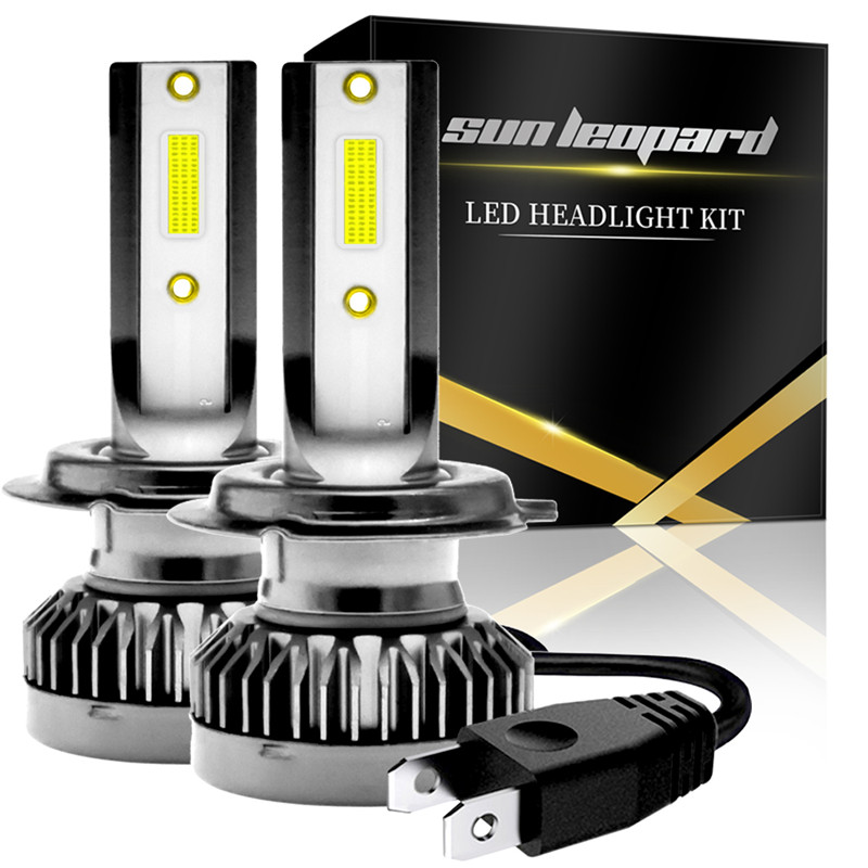 2pcs <font><b>H7</b></font> Mini <font><b>Led</b></font> Car Headlight 12000lm 6000k White Super Bright Light Auto 12V <font><b>Lamps</b></font> New Designed COB <font><b>Led</b></font> Head <font><b>Lamp</b></font> image
