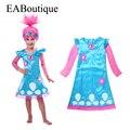 EABoutique высокое качество Новых Тролли Вдохновил Мака Кружевном Платье новорожденных девочек троллей костюм платье довольно троллей одежда