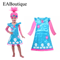 EABoutique high quality New Trolls Inspired Poppy Lace Dress baby girls trolls costume dress pretty trolls clothes