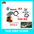 Auto OBD OBDII 2014 r2 car diagnostic scanner ds150 2014.r2 /r3  bluetooth  with / without bluetooth fast free shipping in stock