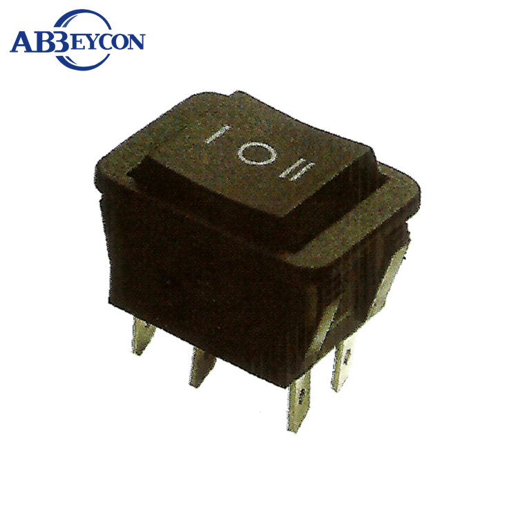 RS372 (on)-off-(on) black 3 position 20A high current lighted rocker switch with 4pin 6pin 20A t85 rocker switch number