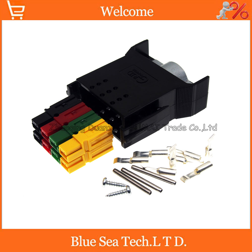 New 8 Pin 30A 600V 8 Pole/Wire male Power Connector module Battery Plug kits For UPS forklift electrocar ect. Assembly 1 sets new 1pin 120a 600v power connector battery plug male