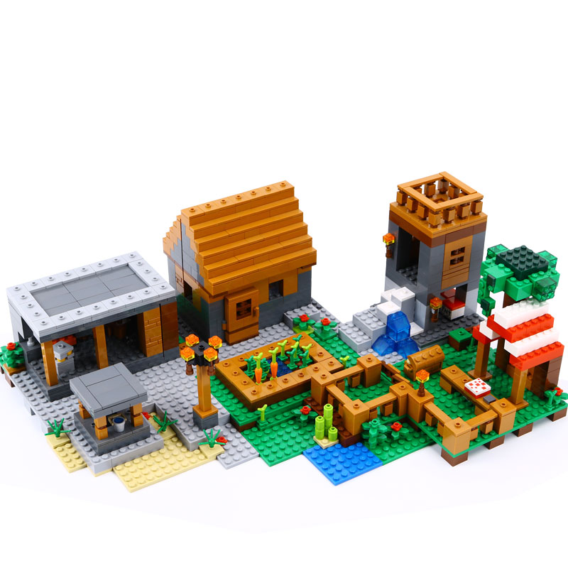 Lepin 18010 New 1106pcs The Village marketplace adventures Steve Blocks kids Toys Compatible with 21128 lepin 18010 my world 1106pcs compatible building block my village bricks diy enlighten brinquedos birthday gift toys kids 21128