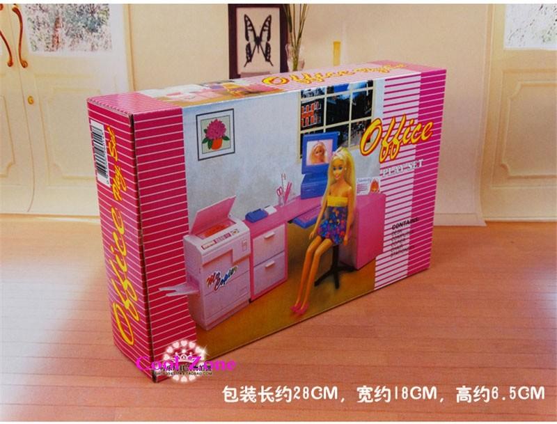 Casa Ufficio Barbie : Miniature mobili per ufficio per barbie doll casa pretend gioca