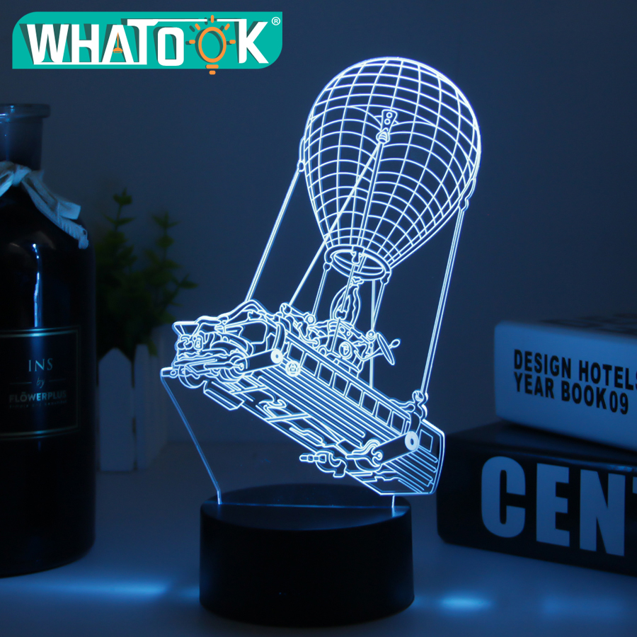 3D Lamp Poke Crystal LED Night Light RGB Changeable Mood Lamp 7 Color Light Base for Birthday Holiday Christmas Gifts