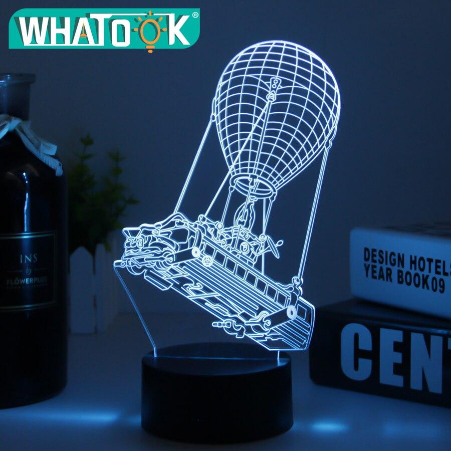 3D Lampada In Cristallo Luce di Notte del LED RGB Variabile Lampada di Umore 7 Luce di Colore di Base per la Festa Di Compleanno Regali Di Natale