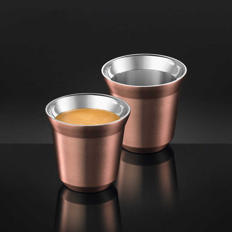 80ml Set of 2 ,Espresso Mugs Double Wall Stainless Steel Espresso Cups Set, Insulated Tea Coffee Mugs Last for Years Easy Clean