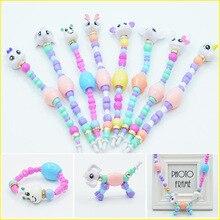 Рождественские детские игрушки, пластиковые Мультяшные браслеты, браслеты для девочек, волшебные браслеты в виде животных, деформационные игрушки для детей, Классические бусины в виде единорога