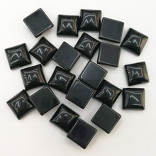 wholesale 50pcs/lot fashion 10x10mm natural black onyx square CAB CABOCHON stone beads for jewelry Accessories free shipping