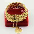 Womens Mens Ladies Wide Solid Yellow Gold Filled Plated Big Bracelet Bangle Link Chain New Jewelry