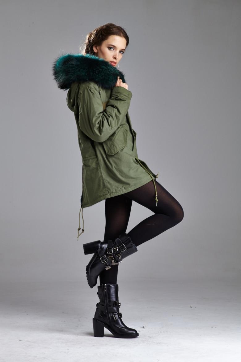 US $600.0 |Hight qualität wintermantel frauen warm military wollmantelparka damenmode oberbekleidung in Echtes Fell aus Damenbekleidung bei