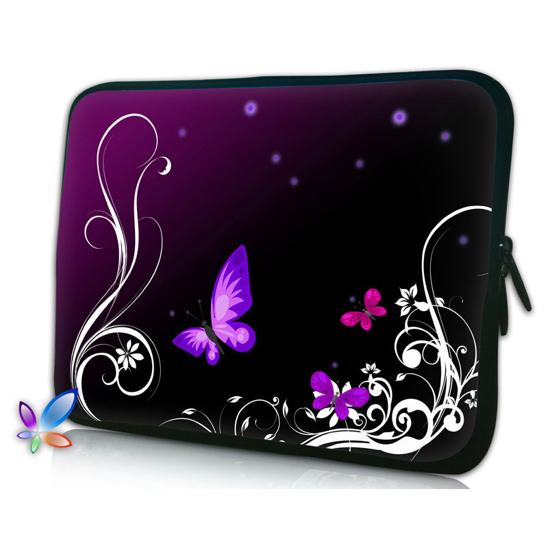 Butterfly Soft Neoprene Notebook Laptop Bag Case Cover 7 9.7 12 13.3 14.4 15.6 17.3 inch For Macbook Air/Pro Computer Bag