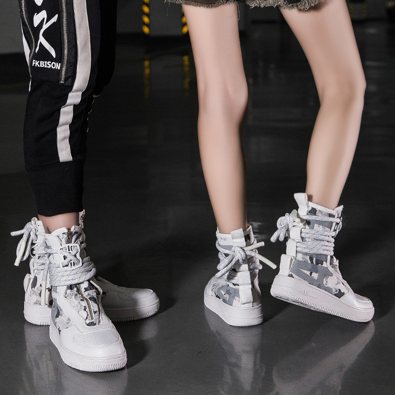 SF AF1 AF1 Winding Big Size Skateboard Shoe Sneakers for Men Zipper High  Top Women Sport Shoes air force 1 one zapatillas hombre-in Skateboarding  from ... 97d775c70055