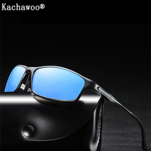 Males Polarized Sun shades Fishing Aluminum Magnesium body Gold Black Excessive High quality Outside Driving Solar Glasses for Males