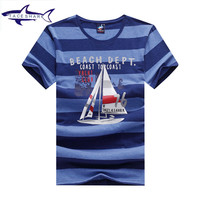 New Summer Style Striped T Shirt Men Famous Tace Shark Brand Yachting Mens T Shirt Camiseta