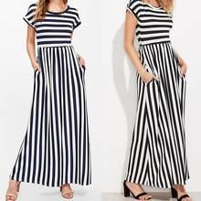 maxi dress zwart wit gestreept