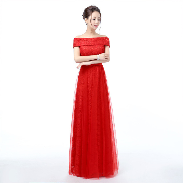WB549 Elegant Red Evening Gowns Vestidos Largos De Noche Formal ...