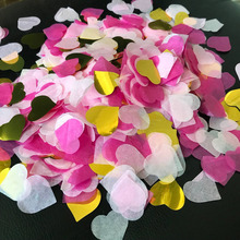 15g/pack Heart Shape Tissue Paper Confetti Mix Color Clear Bobo Balloon Wedding Decoration Birthday Party Decor Favors