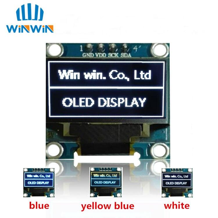 Новый 100 шт. 0,96 дюймовый IIC Серийный белый/синий/желтый OLED дисплей модуль 128X64 IEC SSD1306 12864 плата с ЖК экраном для Arduino-in ЖК-модули from Электронные компоненты и принадлежности on AliExpress
