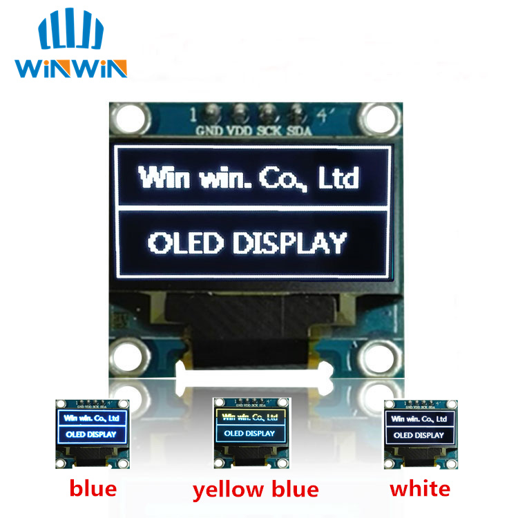 NEW 100pcs 0.96 Inch IIC Serial White/Blue/Yellow OLED Display Module 128X64 I2C SSD1306 12864 LCD Screen Board  For Arduino