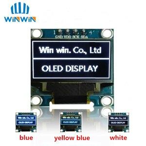 Image 1 - ¡Nuevo! Módulo de pantalla OLED 100 Uds 0,96 pulgadas IIC Serial Blanco/azul/amarillo 128X64 I2C SSD1306 12864 monitor de pantalla LCD para Arduino