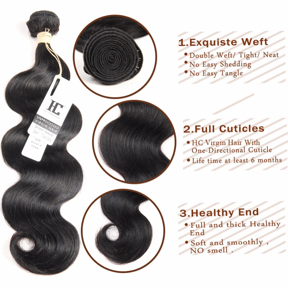 Mink 8A Brazilian Virgin Hair With Closure Body Wave 3 Bundles With Clsoure Human Hair Bundles With Closure Brazilian Body Wave