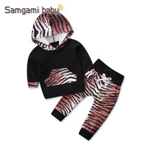 SAMGAMI BABY Infant Brand Clothing Newborn Girl Clothes Leopard Grain Hoodies+Pants Leggings Kids Boys Girls Tracksuits Costume