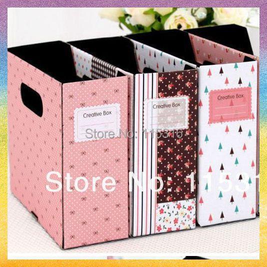 [Storage  box]Free shipping 10PCS/lot JJ015 High quality more color carton Desktop Storage box